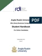 ARU Student Handbook BSc Business Computing