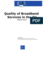 Quality of Broadband Services in the Eu March