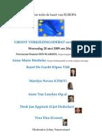Debat Europa 20 mei 2009
