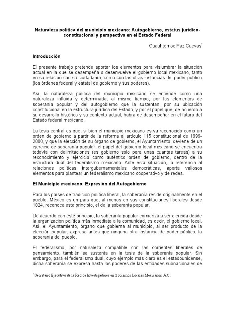 Naturalezapolticadelmunicipiomexicano 120615195202