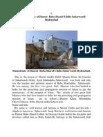 Hazrat Baba  Sharaf uddin  Hyderabad