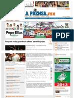 25-06-2013 Paquete más grande de obras para Reynosa