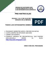 Formato de Prematriculas