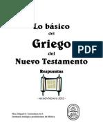 Vastenhout, M.H. Lo básico del griego del NT (respuestas)