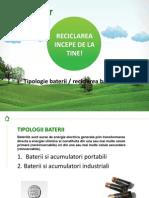 Tipologie Baterii & Reciclare Baterii