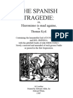 Thomas Kyd - The Spanish Tragedie (for Modern Audience)