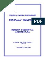 0 - MEMORIA  EDIFICIO  ( ARQUITECTURA ).doc