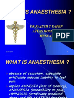 What is Anaesthesia