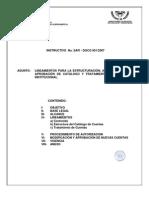 Lineamientos para la estructuración, actualización y aprobación de catálogo y tratamiento de cuentas institucional