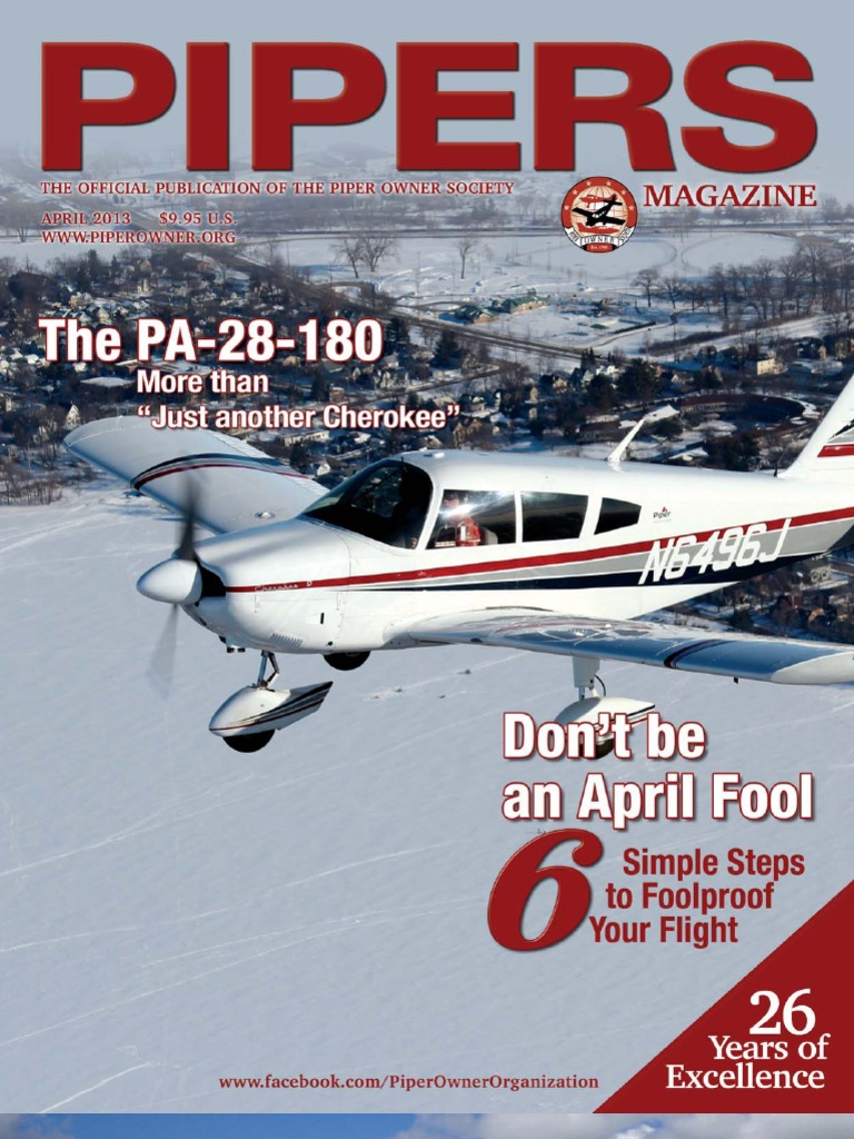 Pipers April 2013 | Piper Aircraft | Federal Aviation Administration
