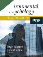 Environmental Psychology New Developments Psychology Research Progress