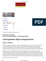 FSU Undergraduate Bulletin