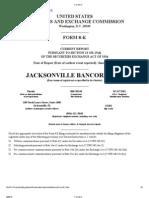 JacksonvilleBancorpForm 8 K