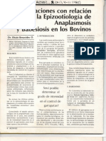Epidemiología Anaplasmosis y Babesiosis