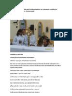 HORA SANTA COM OS MINISTROS EXTRAORDINÁRIOS DA COMUNHÃO EUCARÍSTICA PARÓQUIA SÃO GERALDO