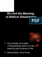 Re-Vist the Meaning of Biblical Stewardship