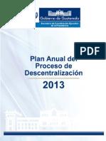 Plan Anual del Proceso de Descentralización 2013