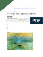 Teologia Della Speranza - Bruno Forte