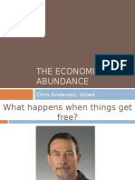 The Economics of Abundance, Wired Chris Anderson