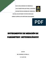 INSTRUMENTOS DE MEDICIÓN DE PARÁMETROS METEOROLÓGICOS