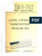 Tm 9-792 M21 AMMUNITION TRAILER