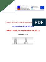 Calendario de Setembro 2013