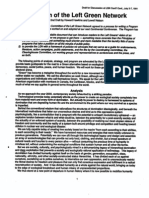 Program of the Left Green Network - 2nd Draft for Discussion