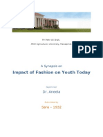 Impact of Fashion on Youth Today - Synopsis v3