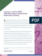 TIMSS 1999 Math Highlights