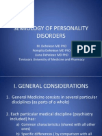 Semiology of Personality Disorders 2008 Mircea Dehelean