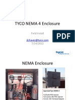 TYCO NEMA 4 Enclosure Field Installation