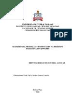 Casamento, migração e homogamia na Belém do entre-séculos (1995-2006)