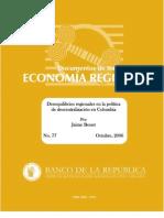 Descentralizacion Politica Colombia Bonet