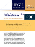 Grading Progress on 13 Steps Toward Disarmament