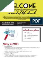 Church Bulletin for June 28 & 30, 2013