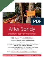 AfterSandy Workshop Flyer