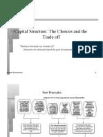 Cap structure Choices