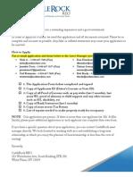 Owner Financing Application, CastleRock REO 2013