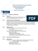 Agenda for the 2nd Annual Business Enhancement Summit