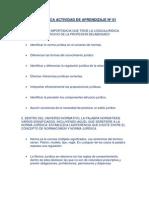 LOGICA JURIDICAACTIVIDAD DE APRENDIZAJE Nº 01