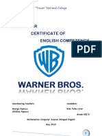 CERTIFICATE OF ENGLISH COMPETENCY - Warner Bros.