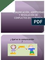Comunicación, Asertividad y Resolución de conflictos en familia