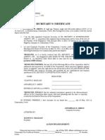 Secretarys certificate to open a bank account secretarys certificate opening acct efps yelopaper Choice Image