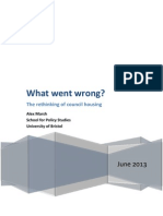 What Went Wrong? The rethinking of council housing