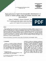 0731-7085-2895-2901697-XHigh-performance liquid chromatographic determination of taurine in human plasma using pre-column extraction and derivatization