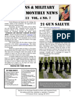 Veterans and Military Families Newsletter July 2013