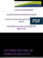 Historia Natural de Diabetes Mellitus