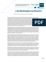 El Concenso de Washington Ha Muerto