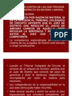 Incidentes Amparo Laboral