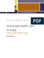 Sengupta Universal Health Care in India Making It Public May2013